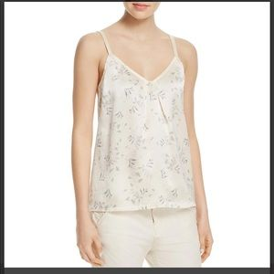 Vince two tone silk floral ivory camisole